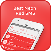 Best Neon Red SMS icon