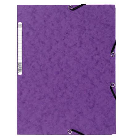 Snoddmapp A4 3-klaff lila