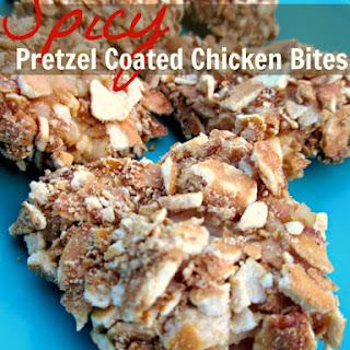 Spicy Pretzel Coated Chicken Bites