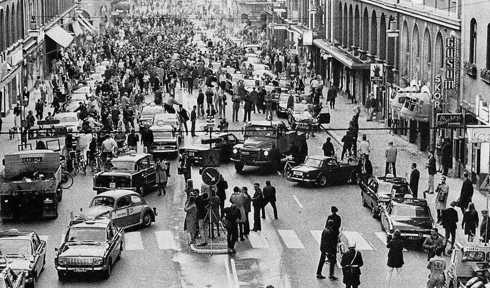 Dagen H, o dia sueco para a troca de lado da estrada