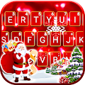 Gold Red Christmas Keyboard Theme APK