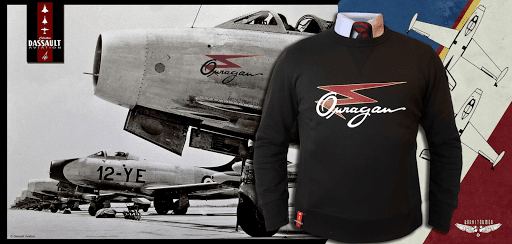 ouragan MD450 Dassault Aviation barnstormer sweat polo
