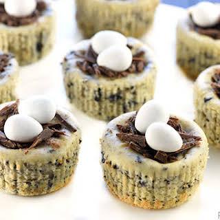 Bird's Nest Mini Oreo Cheesecakes ~ Easy Easter Dessert!.
