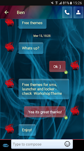 Blue Smoke Theme GO SMS PRO- screenshot thumbnail