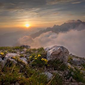 It's gonna be by Bor Rojnik - Landscapes Sunsets & Sunrises ( slovenia, sunrise, kranjska gora, nature, year, julian alps, hiking, upper carniola, spring, places, mountain, triglav national park, action, travel, day, blue hour, landscape )