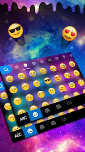 Liquid Galaxy Droplets Keyboard Theme