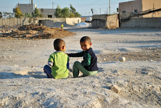 Photo: Children playing in the small Jordan Valley village of Fasayal, West Bank. ($100)