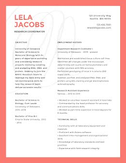 Lela P. Jacobs - Resume item