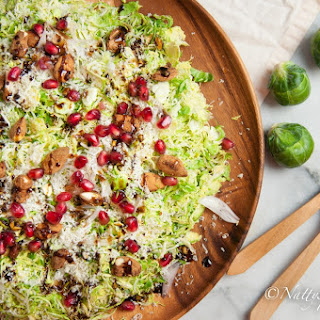 Shaved Brussels Sprouts salad with a Honey-Balsamic Vinaigrette.