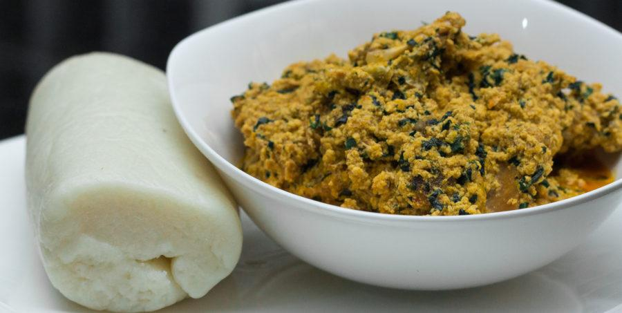 Image result for pounded yam and egusi soup