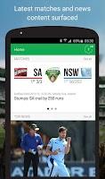 Screenshot of Cricket Australia Live