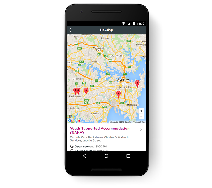 Infoxchange Google Maps Phone