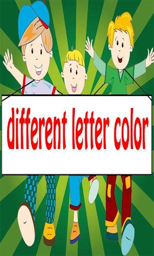 different letter color