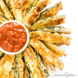 Crispy Parmesan Zucchini Fries (Low Carb, Gluten-free).