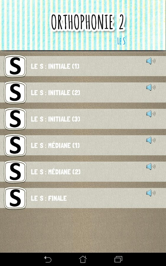Appli d'orthophonie (2) : exercices d'articulation- screenshot