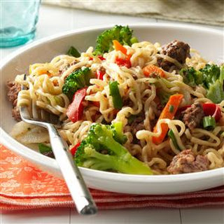 Asian Beef and Noodles.
