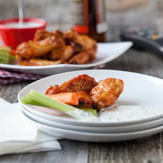 Buffalo Wings with Dairy-Free Ranch Dressing.