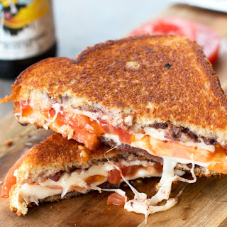 Tomato & Provolone Grilled Cheese with Kalamata Olive Chutney Recipe