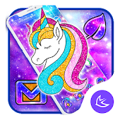Galaxy Shiny Unicorn APUS Launcher Theme Android APK Download Free By Cool Theme Team