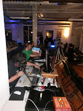 Photo: Ziphoid running streams for SceneSat, DrClaw mixing audio.