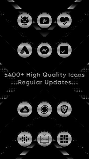 Silver Black Delight Icons screenshot 2