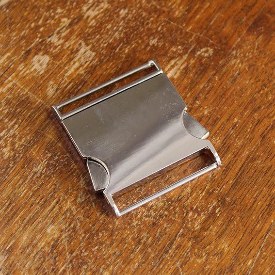 Metallspänne 40mm - silver