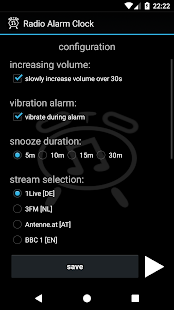 Radio Alarm Clock (free of charge and ad-free) - náhled