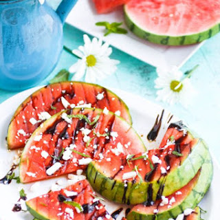 Grilled Watermelon with Feta, Mint, and Balsamic Glaze Recipe