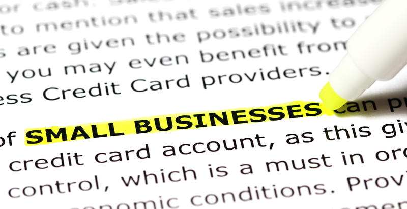 small business highlighted on form