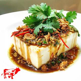 Steamed Silken Tofu.