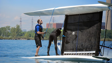 Photo: Intro catamaran clinic at JTown - practice capsize recovery