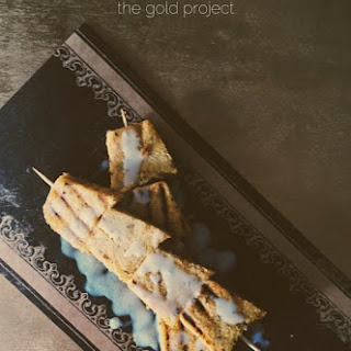 Grilled Polenta Skewers With Gorgonzola Milk