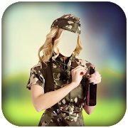 Women Army Photo Editor