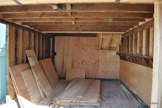Photo: Interior shear walls complete in garage.