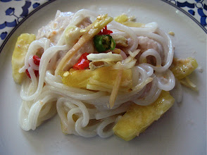 Photo: a serving of pineapple noodles