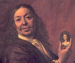Foto: Bartholomeus van der Helst of Bartelt (1613 - 16 december 1670) was een Nederlands kunstschilder uit de Gouden Eeuw. Hij schilderde voornamelijk individuele portretten, maar ook groepsportretten van regenten en schutters. Er zijn slechts een historiestuk, een naakt en een stadsgezicht van hem bekend. De wat lossere en gladdere stijl van Van der Helst kwam in het midden van de 17de eeuw in de mode en verdrong de meer psychologische van Rembrandt, zijn grote concurrent. Een aantal van Rembrandts leerlingen, zoals Ferdinand Bol en Govert Flinck, namen de gladde stijl van Van der Helst over.