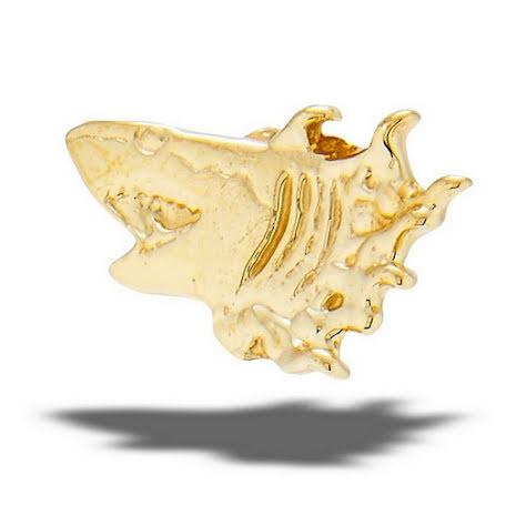14k Shark in yellow gold, threadless