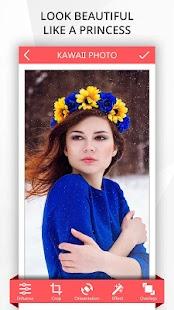 Kawaii Photo - Flower & Heart Crown Photo Editor - náhled