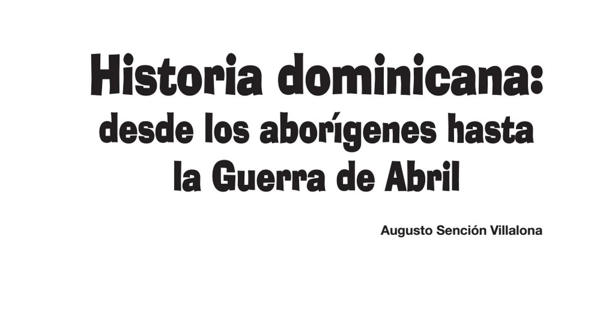 historia de republica dominicana pdf
