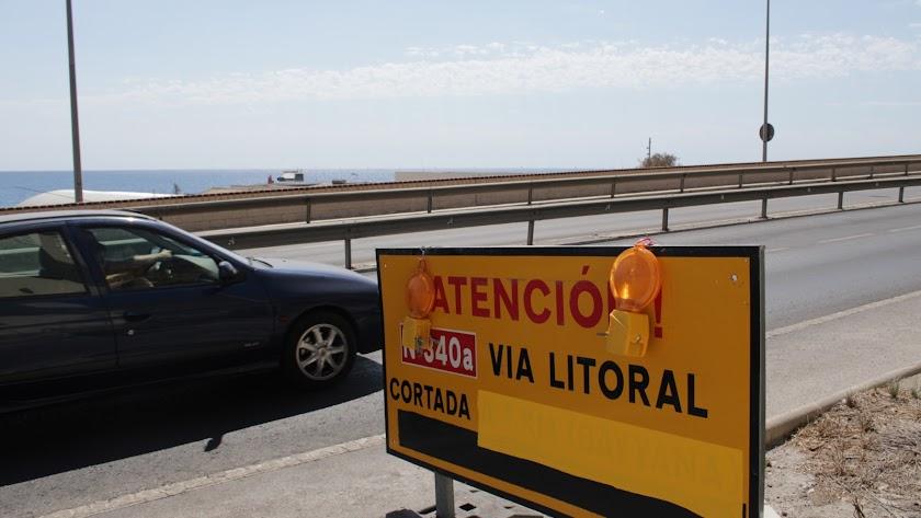 La carretera de El Cañarete está cortada desde el mes de septiembre.