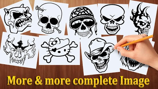 How to Draw Skulls Tattoos - náhled
