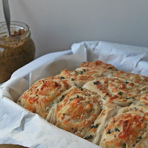 Cheese Bread and Olive- Oregano Spread