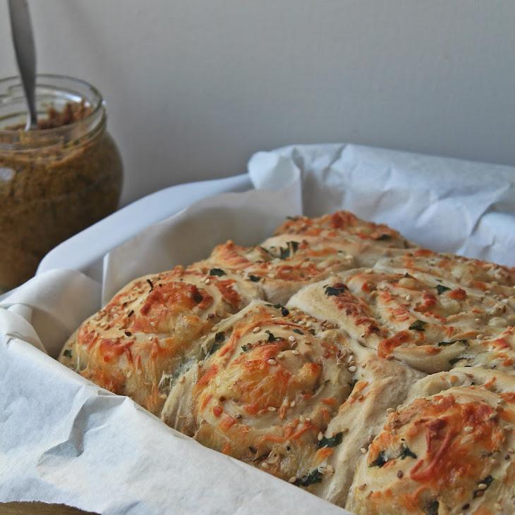 Cheese Bread and Olive- Oregano Spread Recipe