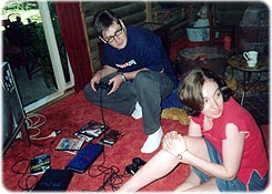 At home in Latrobe - playing PlayStation
