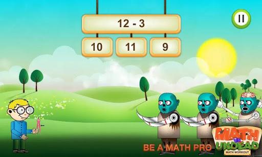 Math vs. Undead: Math Workout screenshots 1