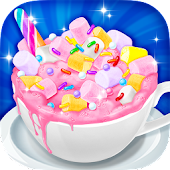 Unicorn Hot Chocolate - Dream Food Making Games