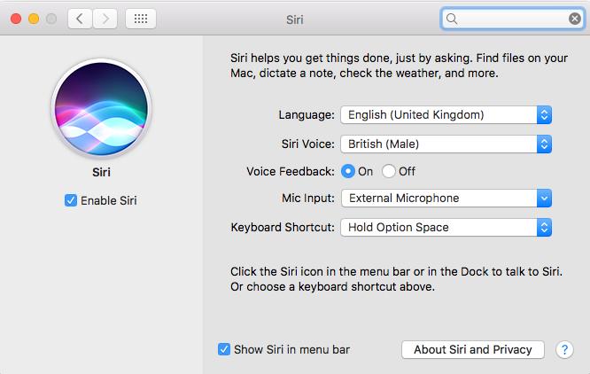 Siri window