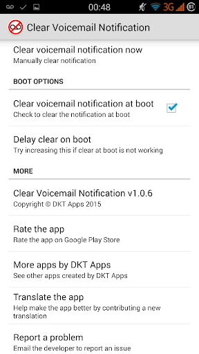 Clear Voicemail Notification