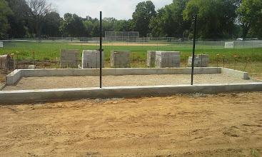 Photo: 3rd Base Dugout ready for concrete slab 08-05-2014