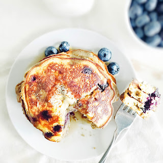 The Fluffiest Coconut Flour Blueberry Pancakes